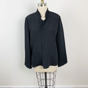 Eileen Fisher Black Sponge Blazer/jacket Size L